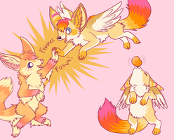 Trade for fennekins! by AstraIKitsune