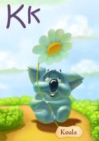 Kids ABC Cards K by creaturedesign