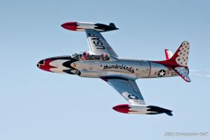 Thunderbird T-33 by aviationbuff