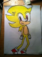 .:Super Sonic:. Traditional by xXSonAmyFanXx