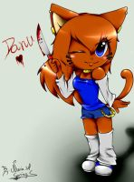 Danu the cat  - Request by Spring-Art-Anime