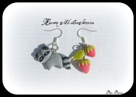 Raccoon Earrings by Bojo-Bijoux