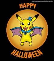 Pikachu Halloween Colour by Characterization