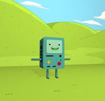 Adventure Time BMO render by Dreamparacite
