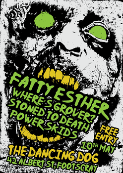 FATTY ESTHER + WHERE'S GROVER? + STD + POWER SKIDS by Jc447