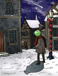 Merry Christmas with Kermit by felegund