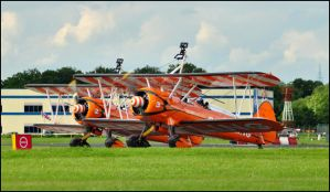 Wingwalkers Take off / FAS 2012 by Somebody-Somewhere