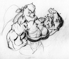 A sketch by Red for me. by Fellania-BloodClaw