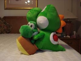 Yoshi Plushie Madness by PuffyTrousers