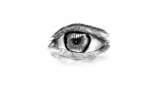 digital sketch practising of an eye. by StevenARTify