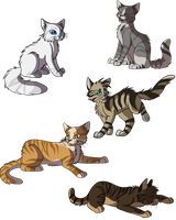 Thunderclan warriors by SassyHeart