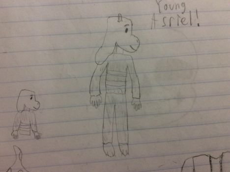 Young Asriel drawing (The Peanuts like style lol) by Andrew-avyx