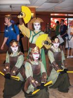 Avatar Kyoshi and the Kyoshi Warriors by Ssafloyd