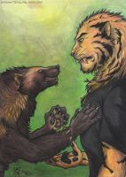 Wolverines and big cats... by c-t-elder
