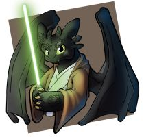 Jedi toothless by Cargo-Hat