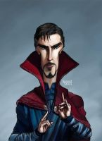Doctor Strange Caricature Color by LorenzoSabia