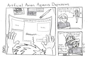 Artificial Avian Aqueous Depression by SometimesDrawings