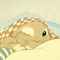 Bunny in bed by Sour-Purple