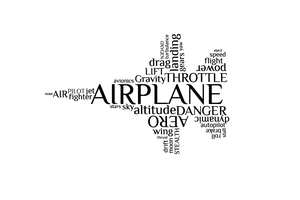 Airplane Word Art by percevic