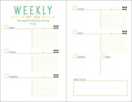 Personal Planner-Weekly design by xiongess