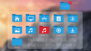 Flader : Flat folder Yosemite Style by scafer31000