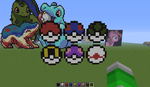 pokeballs - minecraft pixel art by Rest-In-Pixels