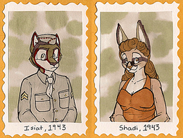 1940's Badges -- Isiat + Shadi by Geistlicher