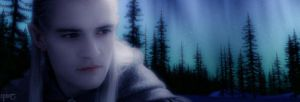 Legolas and the Aurora Borealis by Indiliel