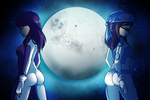 COM: Two Sides of the Moon by mikuruofdoom by SilverZeo
