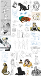 Big Sketchdump 2015 by DarkRika