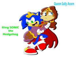 King Sonic Queen Sally by tacofacedrawer
