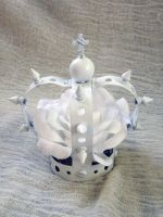 White Gothic Lolita Mini Crown by apatico