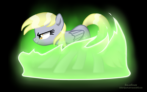 Derpy Changeling by SolarSpark