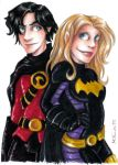 Red Robin and Batgirl by msciuto