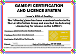 Laser's RPG of Destiny Game-Fi Certificate by LevelInfinitum