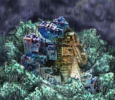 Bismuth City Storm by Namingway