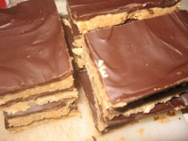 Chocolate Peanut Butter Bars by Sweetz
