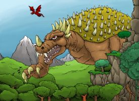 Anguirus by hawanja