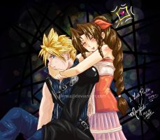 Cloud and Aeris FFVII by LemiaCrescent