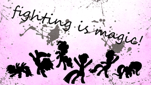 Mane Six - Fighting is Magic! Wallpaper: Pink by ctucks