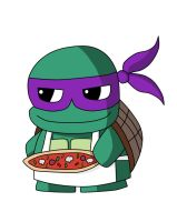 Chibi Donatello by elyxian