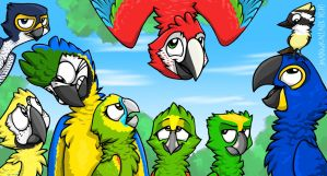 Parrot's Land 2 by MadinkaClaireC