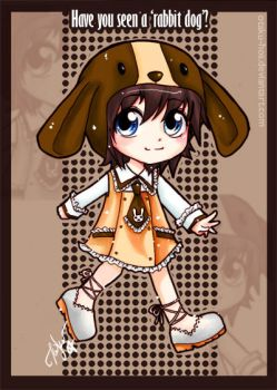 Chibi rabbit dog by otaku-hos