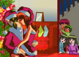 Mommy is kissing Santa by Eleanor-Devil