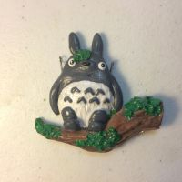 Polymer clay Totoro charm :D by ChasingCats