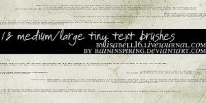 Tiny Text 1 by raininspiring