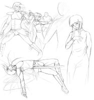 DUAEL: Chapter 4 Sketches by Mole-Chan