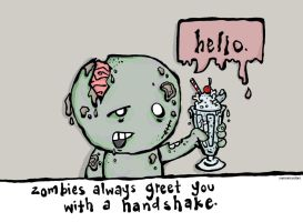 zombie greeting. by summeramber