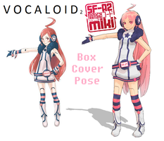 MMD Ginshi Miki Box Cover Pose by Rayne-Ray