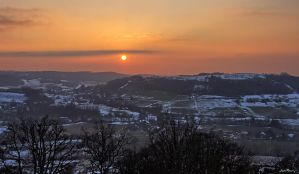 Sunset over the hills by J222R